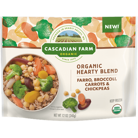 Cascadian Farm Organic Hearty Blend with Farro, Broccoli, Carrots, Chickpeas