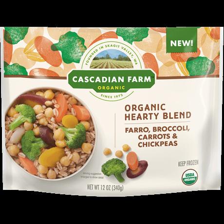 Cascadian Farm Organic Hearty Blend with Farro, Broccoli, Carrots, Chickpeas