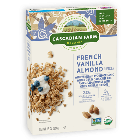 Cascadian Farm French Vanilla Almond Granola package image