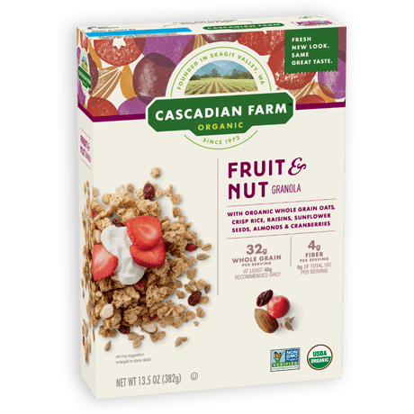 Cascadian Farm Fruit and Nut Granola package image