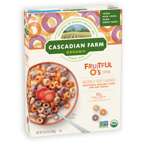 Cascadian Farm Fruitful O's Cereal package image