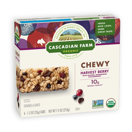 Cascadian Farm Harvest Berry Chewy Granola Bar package image
