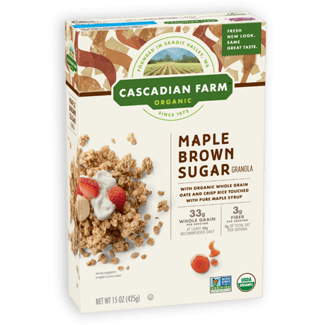 Cascadian Farm Maple Brown Sugar Granola package image