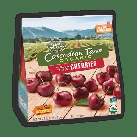 A bag of Cascadian Farm Organic Premium Organic Cherries