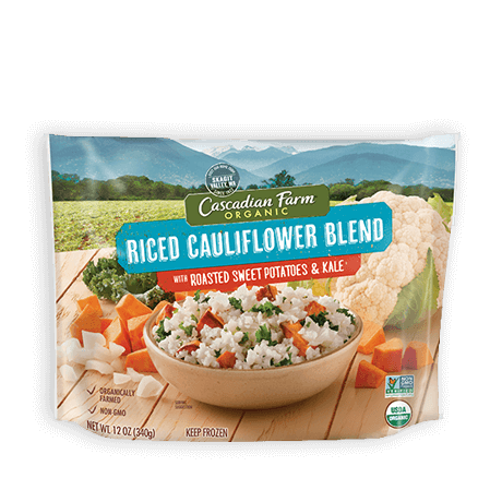 Cascadian Farm Organic Frozen Riced Cauliflower with Roasted Sweet Potatoes and Kale