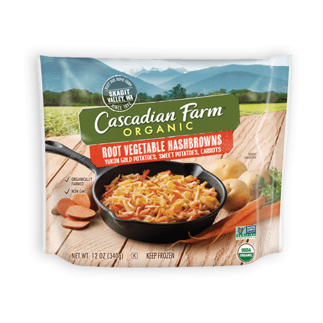 Cascadian Farm Root Vegetable Hashbrowns with Yukon Gold Potatoes, Carrots & Sweet Potatoes package image