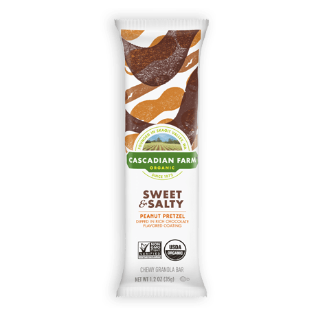 Cascadian Farm Sweet & Salty Peanut Pretzel Chewy Granola Bar single package image